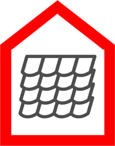 An icon that shows a tile roof