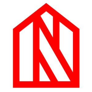 The Newton Roofing logo with a red house